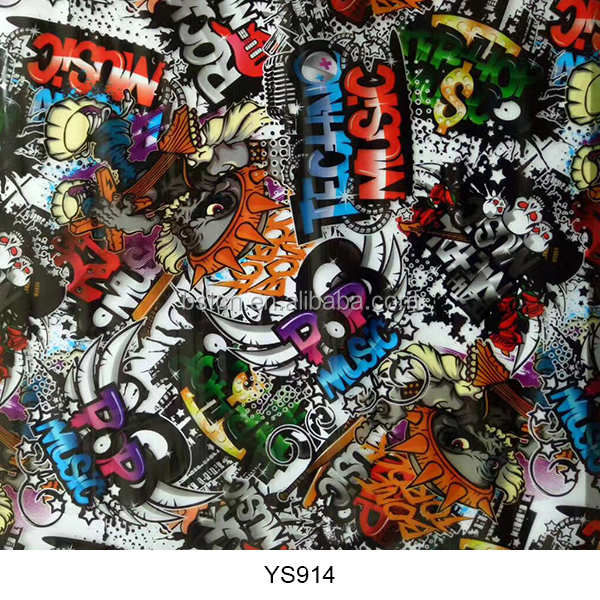 Manufacturer for 3d Cubic FILM Hydrographic Water Transfer Printing Film STICKERBOMB