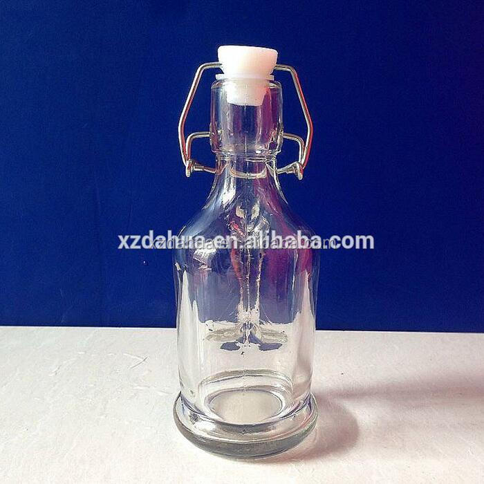 180ml 6oz clip top glass bottle with handle glass oil pot export UK