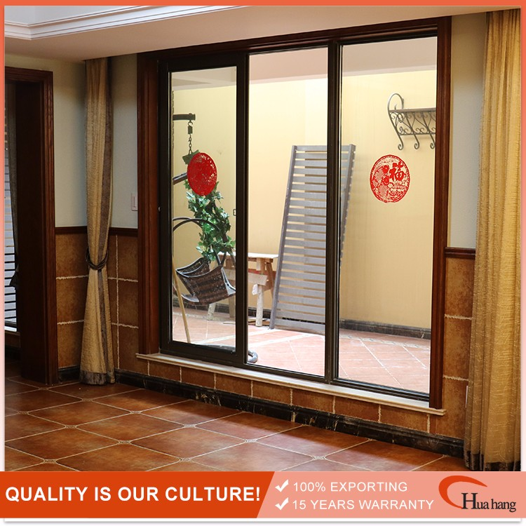 Standard Size French Style Aluminum Alloy Home Sliding Glass Doors