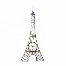 Torre eiffel del metallo orologio <span class=keywords><strong>da</strong></span> <span class=keywords><strong>parete</strong></span> <span class=keywords><strong>per</strong></span> <span class=keywords><strong>la</strong></span> <span class=keywords><strong>vendita</strong></span>