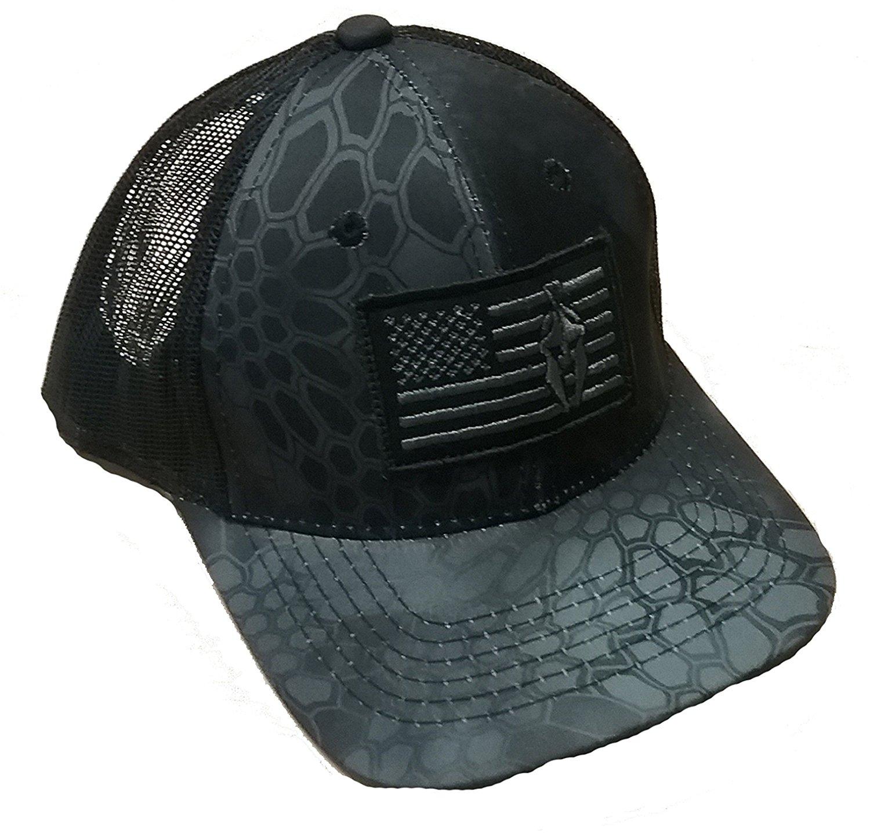 458a3c48b18 Get Quotations · Steelcut Kryptek typhon Military Grey Black New Snakeskin  Camo Warrior Patch Mesh Cap Hat