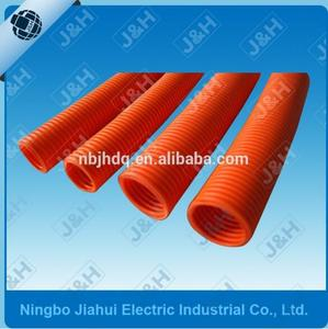 JHCH32 32MM Australian Standard HD Grey PVC Flexible Corrugated Electrical Conduit Plastic Pipes Ripple Tube