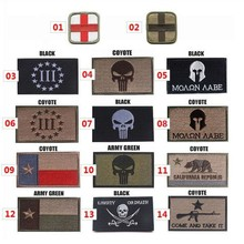 The Punisher / Texas / Red Cross Embroidery 3D Patch Armband Skull Velcro Tactical Gear Outdoor Props Badge Patches 8*5cm