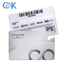 Cmyk <span class=keywords><strong>pvc</strong></span> barcode loyaliteit/gift/lidkaarten