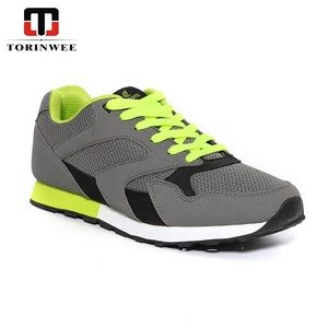 Active Mesh PU Laces Up Mens shoes sport and air sport shoes with man casual shoe