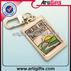 Customized double sided design metal enamel key chain