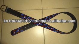 African Masai beaded leather belts