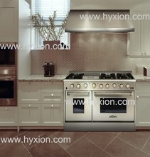 48 inch hyxion gas range with double oven & 6 burner
