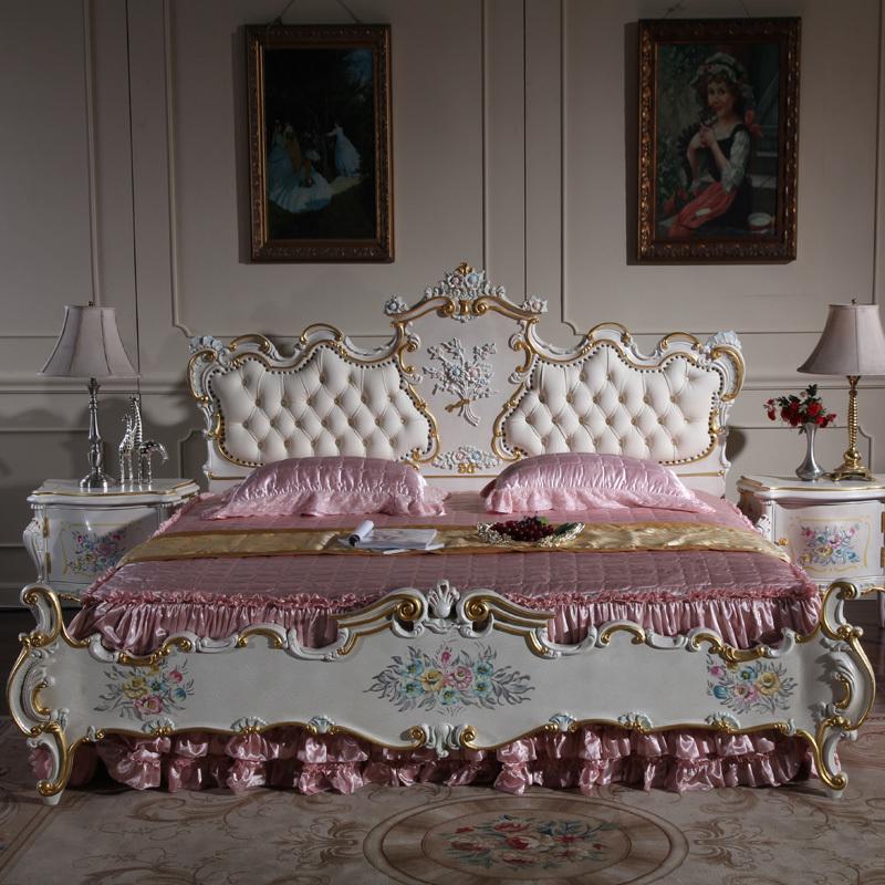 2016 moderno blanco europa matket cama muebles de madera modernos ...
