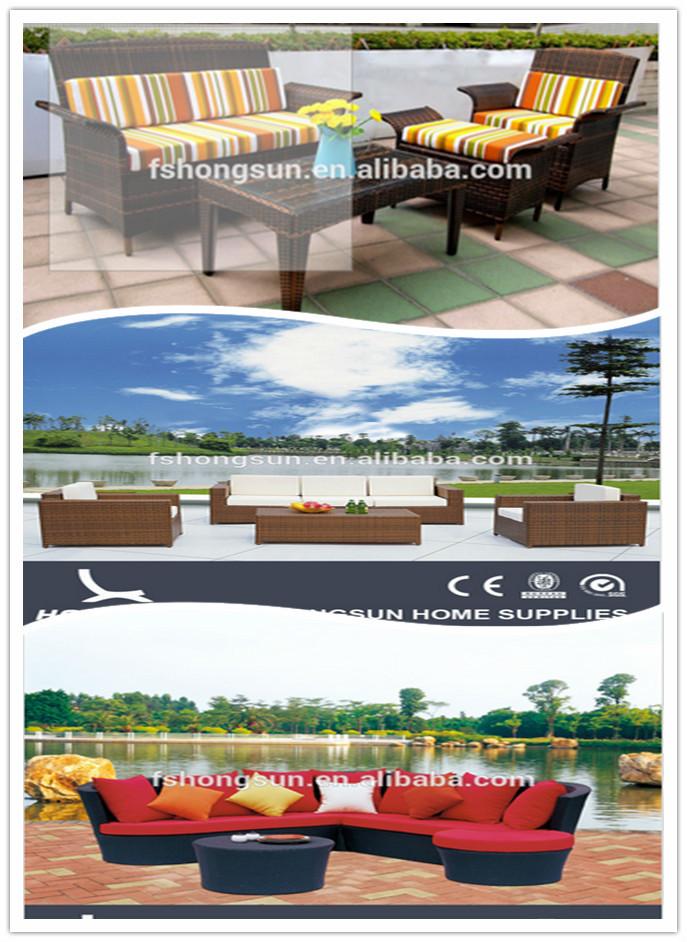 wholesale aluminum f<em></em>rame garden sofa set rattan outdoor furniture with Asian style