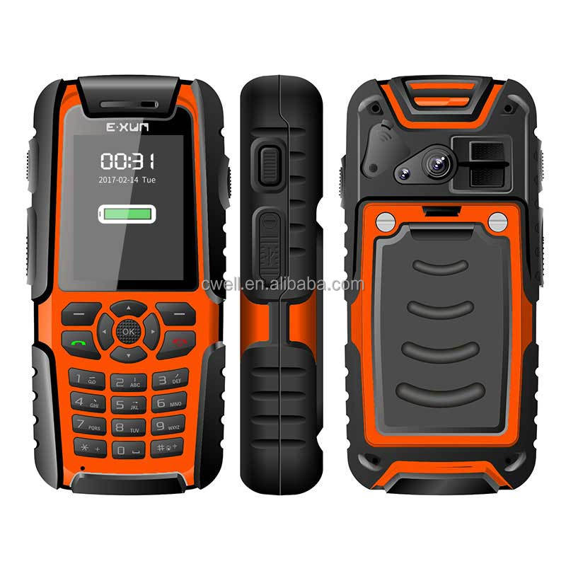 2.0 Inch EXUN X8 Dual <strong>SIM</strong> Best Price IP67 Waterproof SOS Function telefonos celulares Rugged Mobile Phone