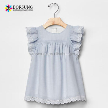 c248b7c5c Latest fashion blouse design baby lace short angle sleeve girls cotton tops  pictures