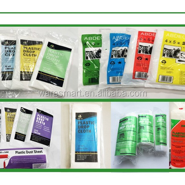 hirech factory ldpe clear color plastic painting drop sheet