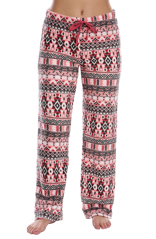 WallFlower Women's Luxury Soft Sleepwear Warm and Cozy Plush Fuzzy Pajama Bottoms Loungewear for Ladies