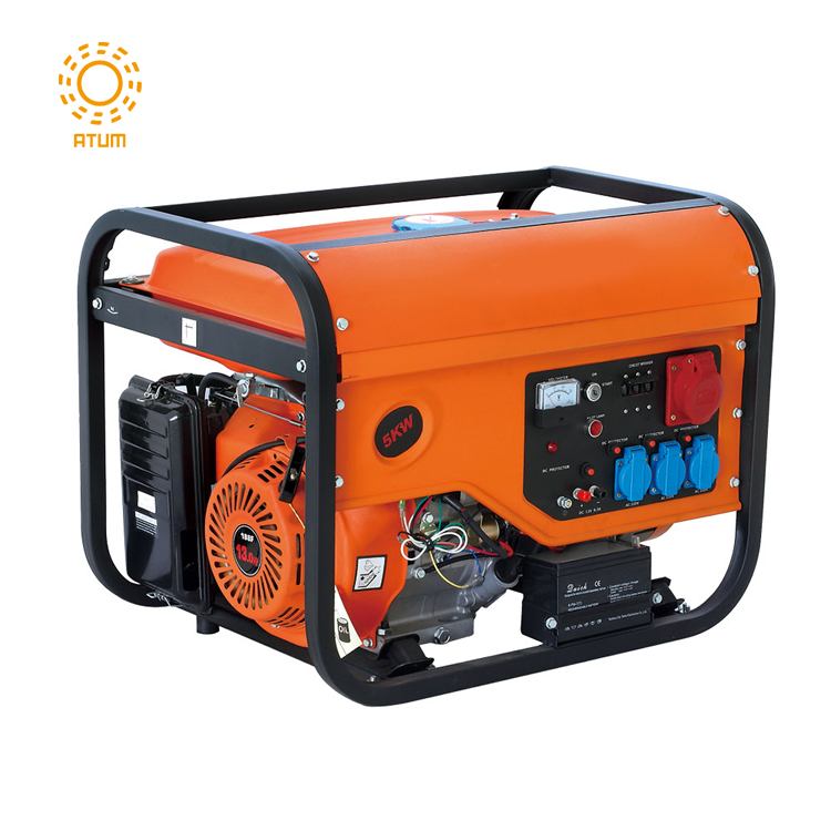 3KW 4KW 5KW 3 phase electric start gasoline generator with battery for industrial use