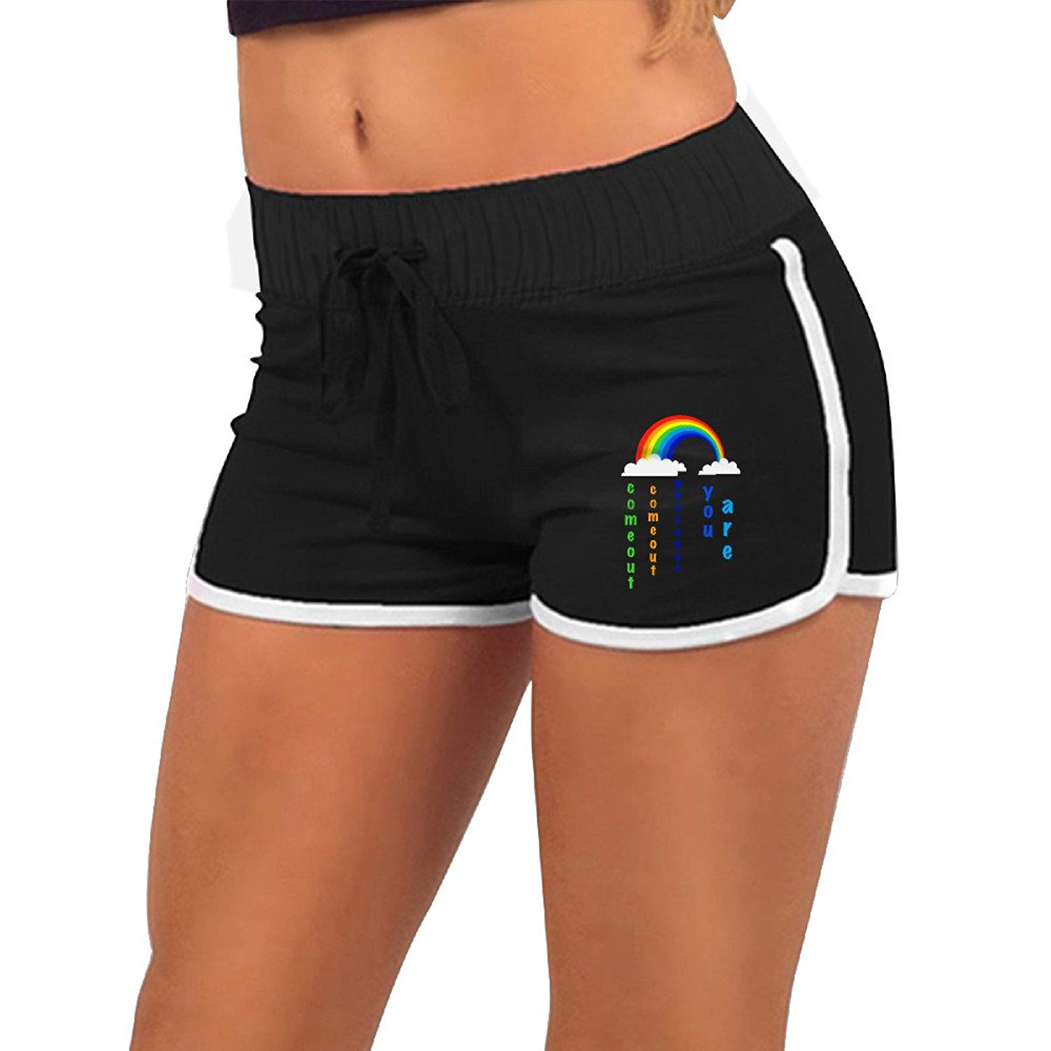 5fb5f068a0 Get Quotations · New Summer Pants Women GirlPro Gay Lesbian Marriage Come  Out Wherever You Are Gay PrideSports Shorts