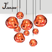 Creative lava colored glass chandelier irregular chandelier cafe bar pendant lights for hotel lighting