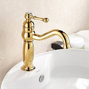 Furesnts Modern home kitchen and bathroom faucet European gold copper Faucets Faucets bathroom basin basin American Rose Gold Antique Faucets,(Standard G 1/2 universal hose ports)
