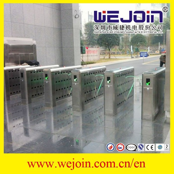 Flap barrier project for crowd management Optical Access Control Automatic Stainless steel retractable flap barrier