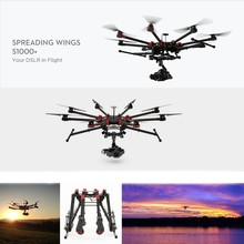 Original DJI S1000+ Spreading Wings for DSLR Platform in the Air Professional Octa Copter Drone with 11KGS Loading Ability