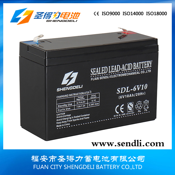 Best price long serve time high quality lead acid battery 6v10ah for UPS