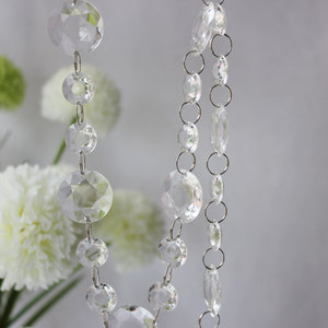 Chunky Clear Acrylic Crystal Bead Garland For Wedding Party Decoration