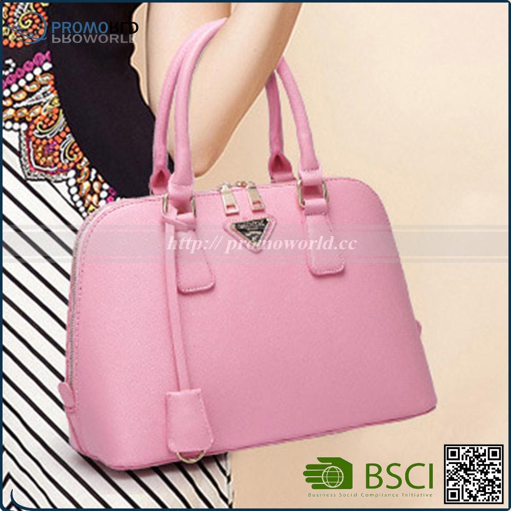 a9b67ab54 Classic Fashion Pink Color Lady Bags Beautiful Women Leather Handbag ...