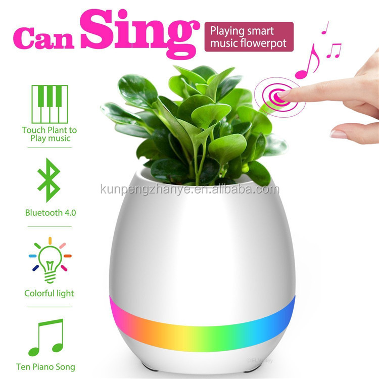 Guangdong Flower pot bluetooth speaker with led light, 2017 music a pot