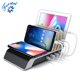 Multi-Port Charger Stand Dock Desktop Organizer 5 device wireless charging station for iPhone and apple watch