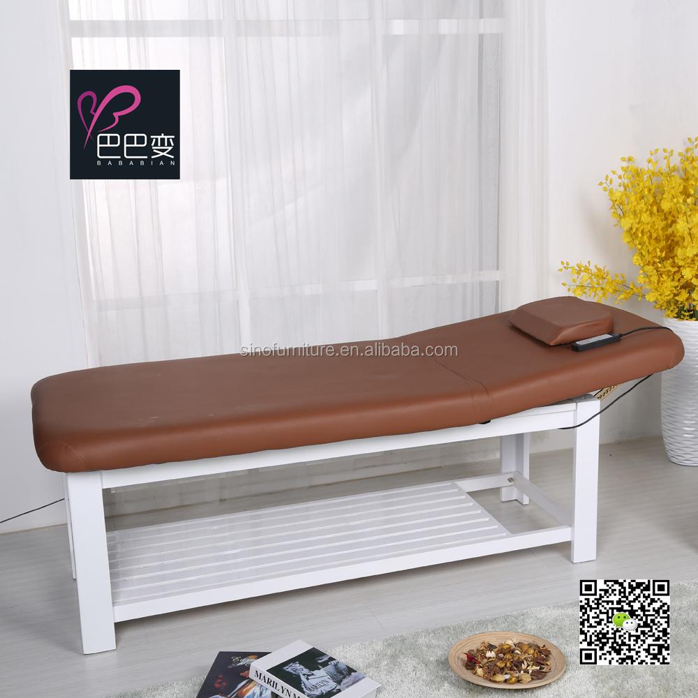 Lectrique ascenseur en bois massif spa salon en cuir massages beaut lit tables en m tal id de - Lit de massage electrique ...