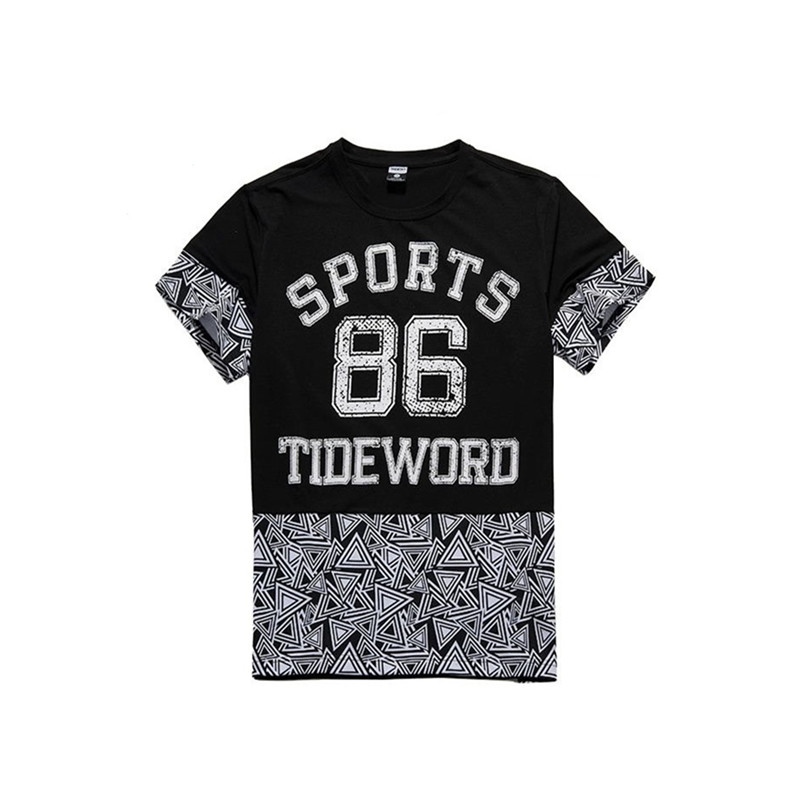 Custom fashion words printing japanese short sleeve t shirt