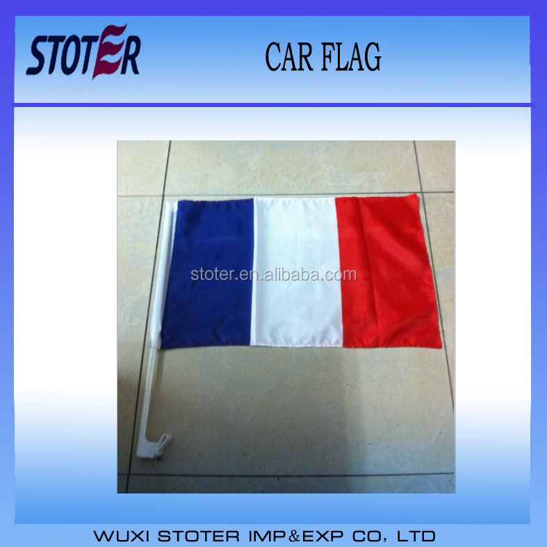 Car window Flags With Holder UEFA Euro 2016 France Car Flag