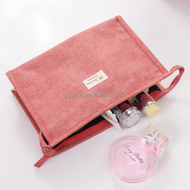 New <strong>Travel</strong> Frosted Fabric women handheld toiletry cosmetic bag