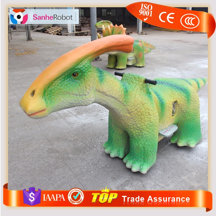 Amusment Park Kids ride on electric cars toy for wholesale funny baby dinosaur ride