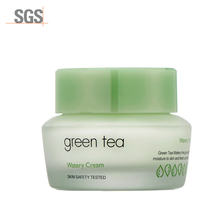 Factory wholesale whitening watery cream green tea face cream