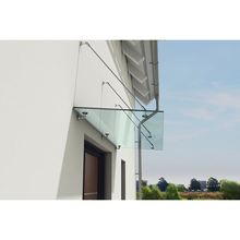 New arrival high end glass door canopy single acrylic door awning on sale