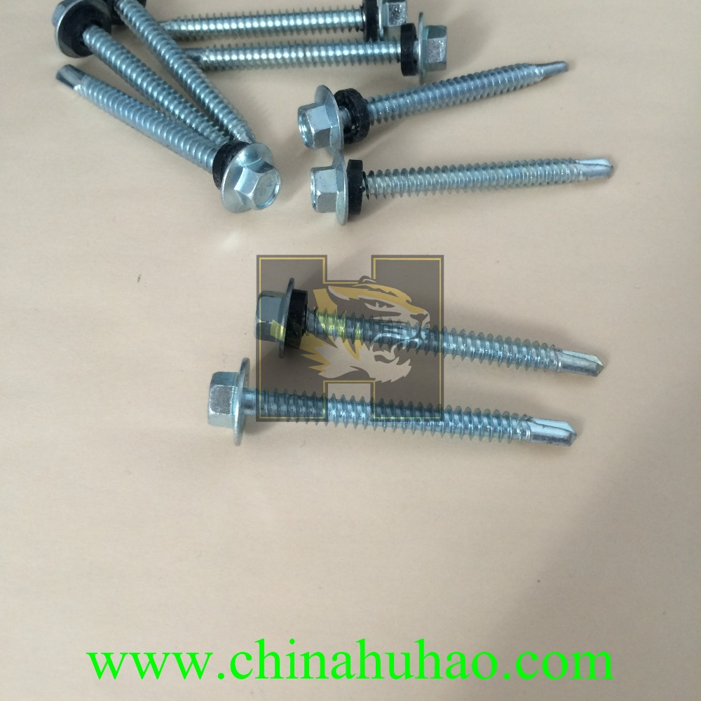 factory directly sales excellent quality hex head roofing screws