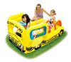 Summer Inflatable car shape play pool with sprayer and water slide for kids