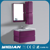 Bathroom Hanging Vanity High Gloss Purple Color Vanity Western Bathroom Hanging Vanity