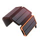 Foldable solar panel power bank 25000mah cell powered solar phone charger