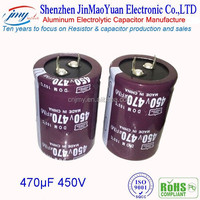 High Quality Various type of capacitor 450V electrolytic aluminum capacitor