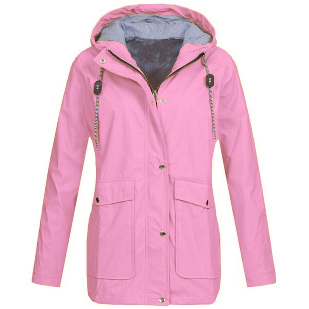 6fb8f2567 Solid Rain Jacket Outdoor Plus Hoodie Waterproof Hooded Raincoat Windproof