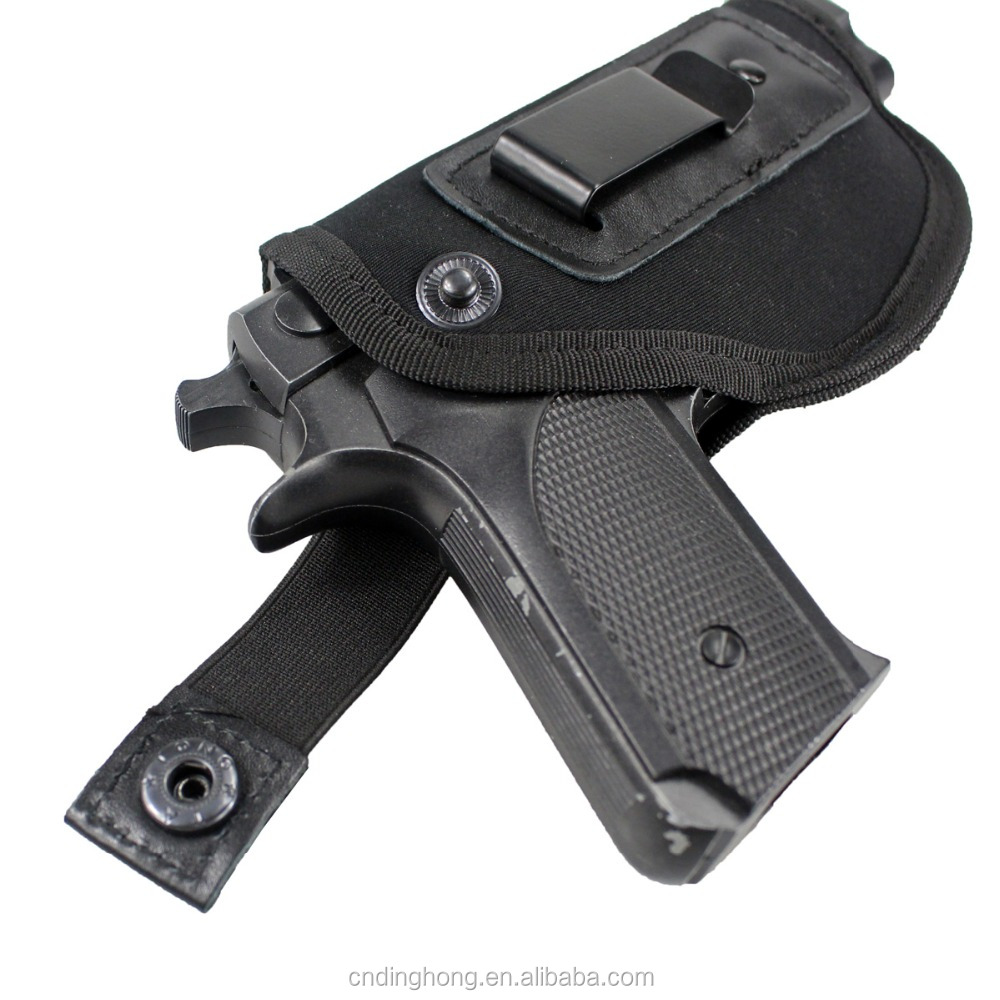 Tactical Universal Neoprene IWB Concealed Carry Gun Pistol Holster fits G17 with Extra Mag Holster for Right Hand