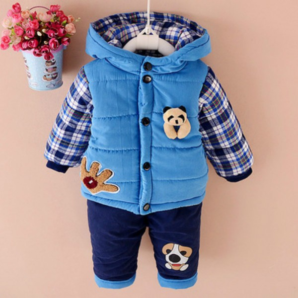 48c24012 Baby Boys winter Clothing Set Down Parkas For Boy Warm Jacket Coats Pants  Two Pieces Bear ...
