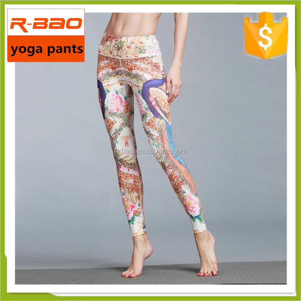colorful Slim Womens Tights Yoga Running Workout Fitness Leggings Pants