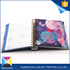 Hot Sale promotional printing manufacturer spiral notebook with colored paper for school