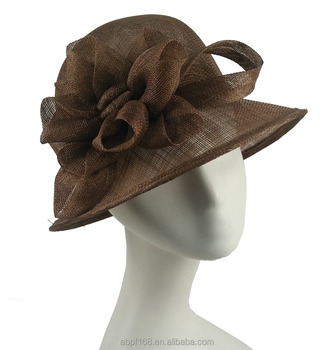 7e6e8de2d9a74 New Designer Women Summer Philippines Sinamay Church Hat Bucket Hats Bow  Millinery for Wedding Party Dresses