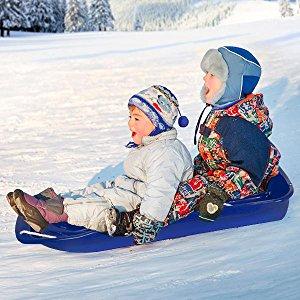 wholesale sledge inverno areia neve trenó de plástico de esqui com corda puxando