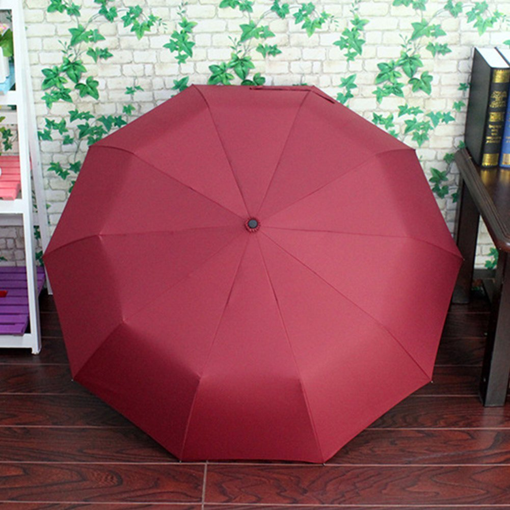Fashionwu Fashion Portable Triple Folding All-weather Umbrella Anti-UV Sunproof Automatic Parasol