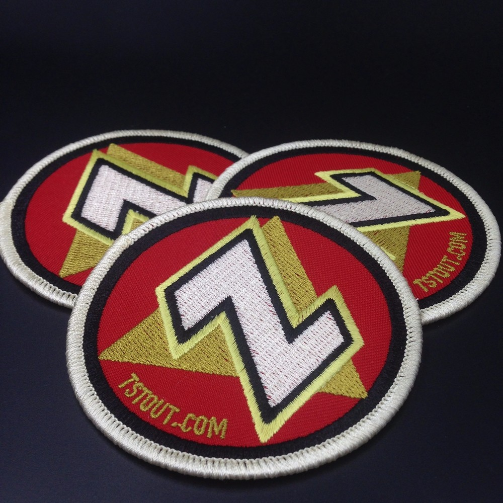 custom best quality pvc backing hook and loop patches
